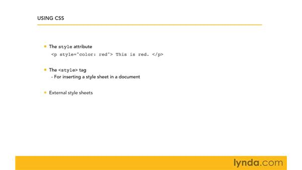 Examining the three ways to apply style: CSS for Developers