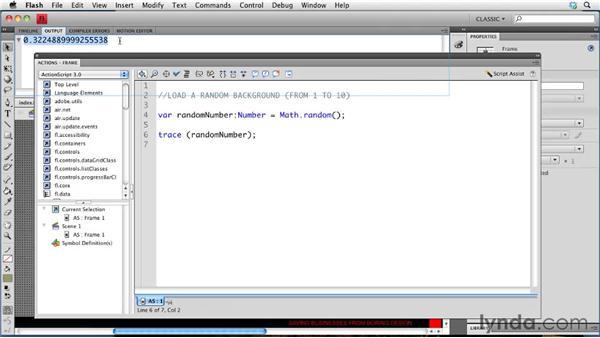 Loading random images: Creating a Portfolio Web Site Using Flash CS4 Professional