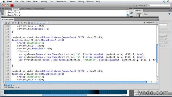 Creating transitions: Creating a Portfolio Web Site Using Flash CS4 Professional