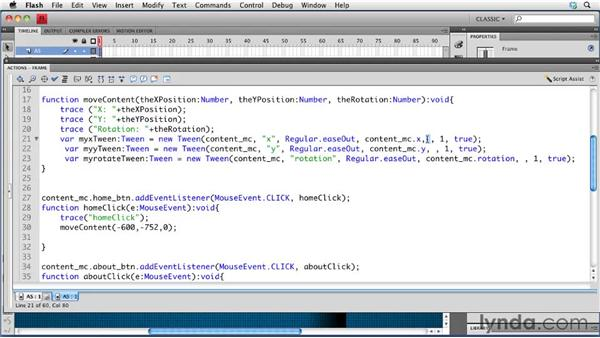 Simplifying code: Creating a Portfolio Web Site Using Flash CS4 Professional