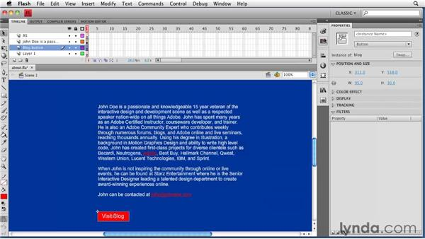: Creating a Portfolio Web Site Using Flash CS4 Professional
