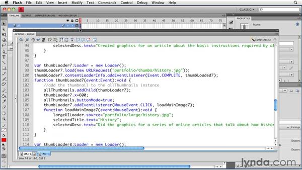 Allowing for unlimited thumbnails: Creating a Portfolio Web Site Using Flash CS4 Professional