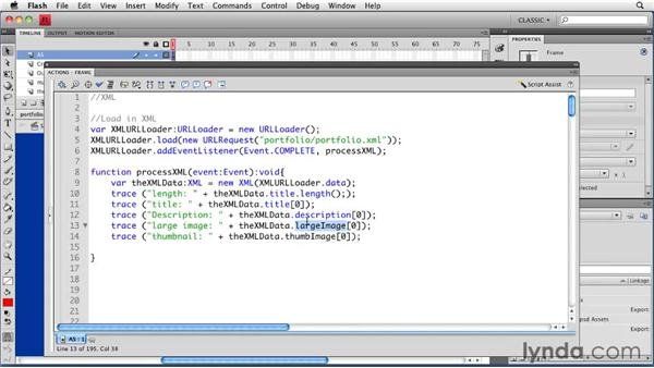 Sorting XML content: Creating a Portfolio Web Site Using Flash CS4 Professional