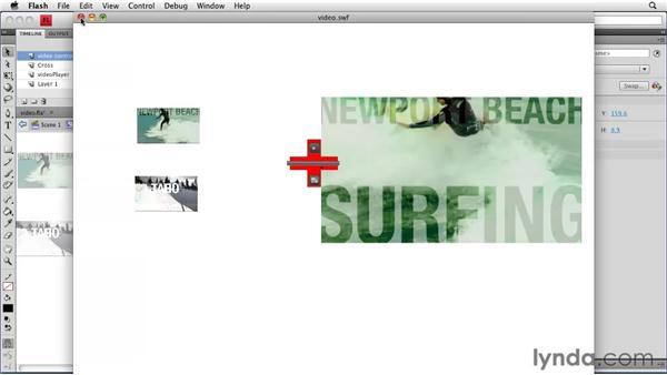 Creating custom video controls: Creating a Portfolio Web Site Using Flash CS4 Professional