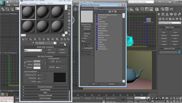 Selecting the right rendering engine : Textures and Materials in 3ds Max