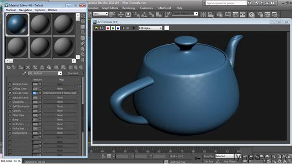 Specular Level and Specular Color: Textures and Materials in 3ds Max