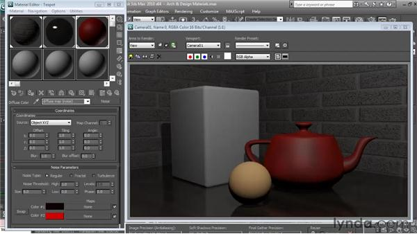 mental ray Arch and Design materials: Textures and Materials in 3ds Max