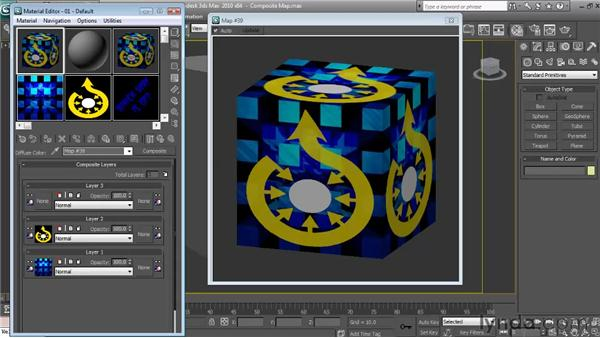 Using composite maps to layer images: Textures and Materials in 3ds Max