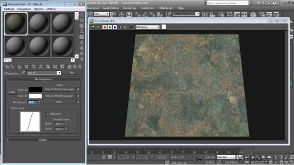 Using mix maps: Textures and Materials in 3ds Max