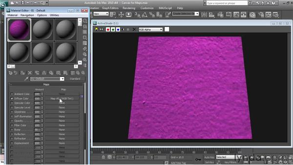 Adjusting the color of a map: Textures and Materials in 3ds Max