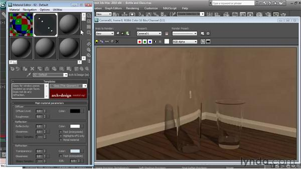 Creating realistic glass: Textures and Materials in 3ds Max