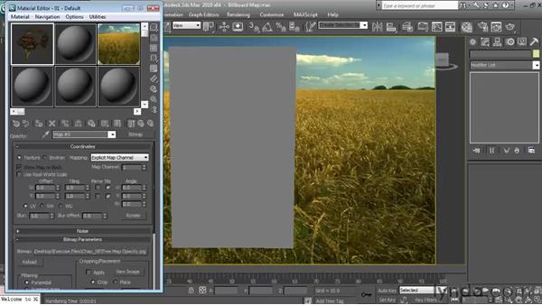 Creating billboard tree maps: Textures and Materials in 3ds Max