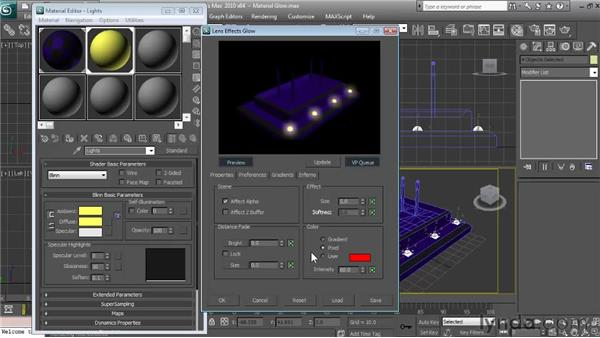 Using material ID numbers to add glow: Textures and Materials in 3ds Max