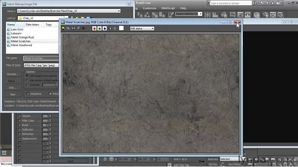 Building the hot metal material: Textures and Materials in 3ds Max