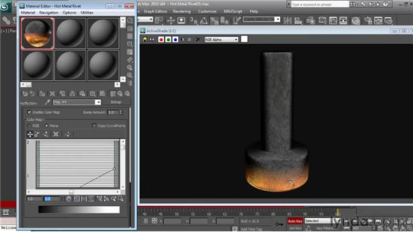 Animating the look of the hot metal material: Textures and Materials in 3ds Max