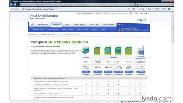 Editions of QuickBooks: QuickBooks Pro 2010 Essential Training