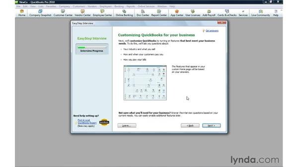 Creating a company file: QuickBooks Pro 2010 Essential Training