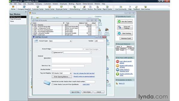Creating an account: QuickBooks Pro 2010 Essential Training