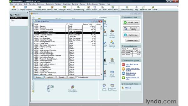 Making an account inactive: QuickBooks Pro 2010 Essential Training