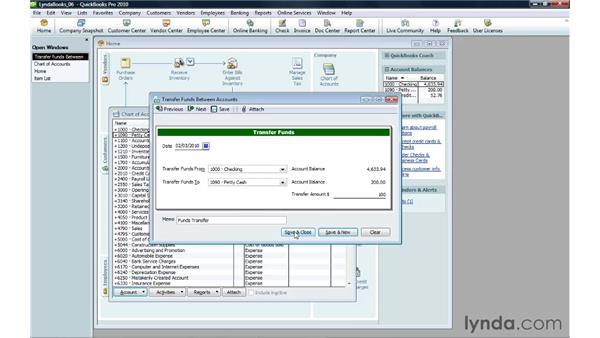 Paying with cash: QuickBooks Pro 2010 Essential Training