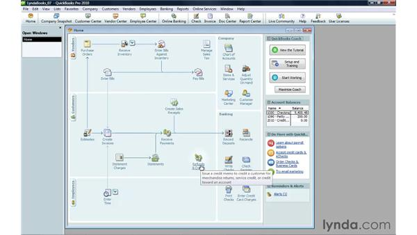 Handling a customer credit: QuickBooks Pro 2010 Essential Training