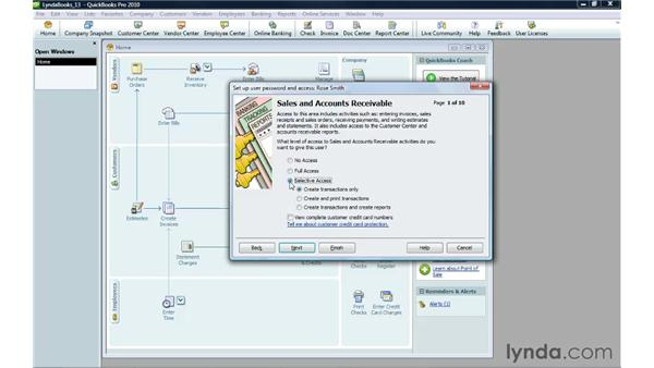 Creating a new user: QuickBooks Pro 2010 Essential Training