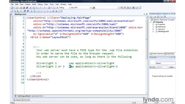 Deploying your Silverlight application: Silverlight 3 Essential Training