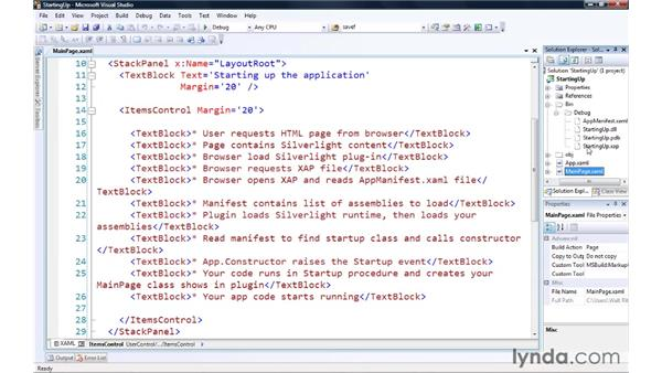 Starting up your application: Silverlight 3 Essential Training