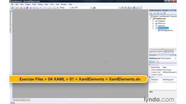 Working with XAML Elements and Property Attributes: Silverlight 3 Essential Training