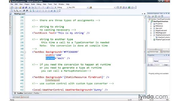 Converting XAML properties with TypeConverters: Silverlight 3 Essential Training