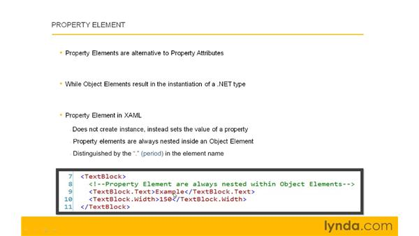 Nesting more complex structure with Property Elements: Silverlight 3 Essential Training