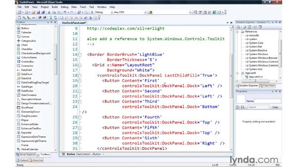 Exploring additional layout controls in the Silverlight toolkit: Silverlight 3 Essential Training
