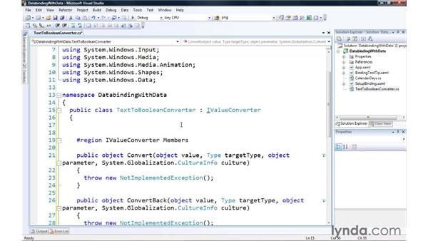 Using DataBinding to work with data: Silverlight 3 Essential Training