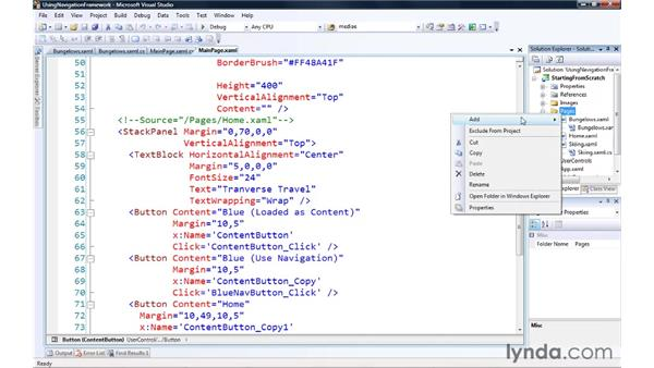 Using the Navigation Framework: Silverlight 3 Essential Training