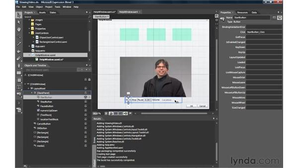 Embedding video with the MediaElement: Silverlight 3 Essential Training