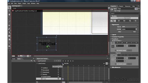 Creating animations: Silverlight 3 Essential Training