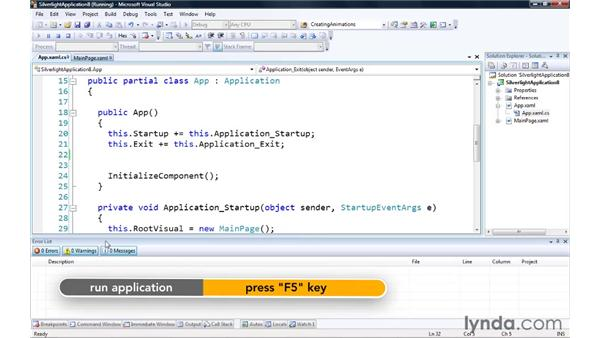 Setting up application events: Silverlight 3 Essential Training