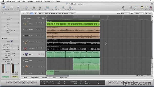 Using the Toolbox: Logic Pro 9 Essential Training