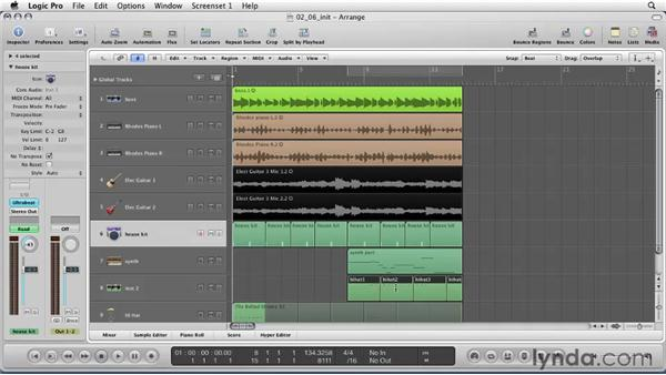 Naming tracks and regions: Logic Pro 9 Essential Training