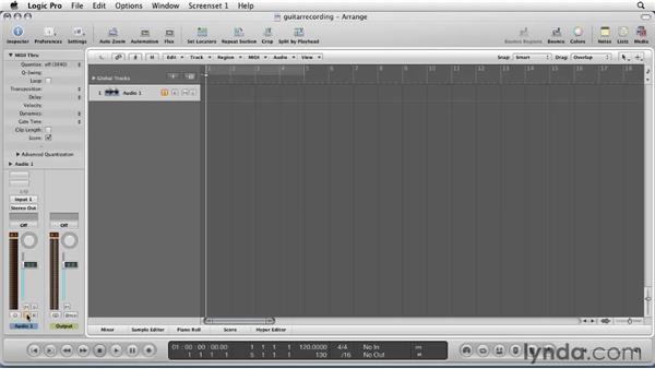 Setting up for recording : Logic Pro 9 Essential Training