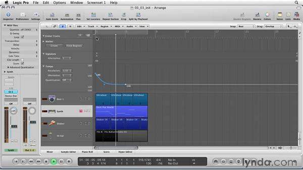 Understanding tempo: Logic Pro 9 Essential Training