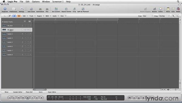 Recording live instruments and vocals using multitrack recording: Logic Pro 9 Essential Training