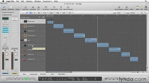 Playing with guitar madness: Amp design: Logic Pro 9 Essential Training
