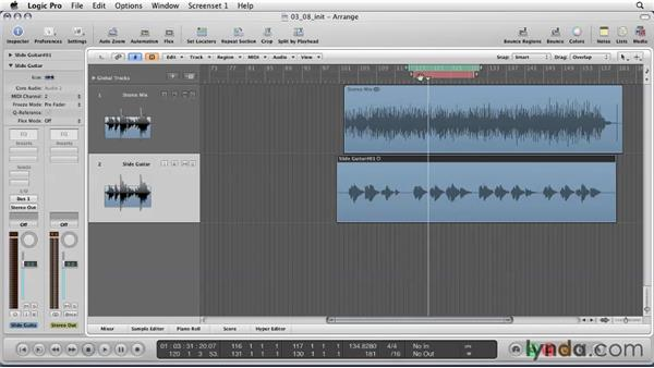 Punching in to replace bad audio: Logic Pro 9 Essential Training