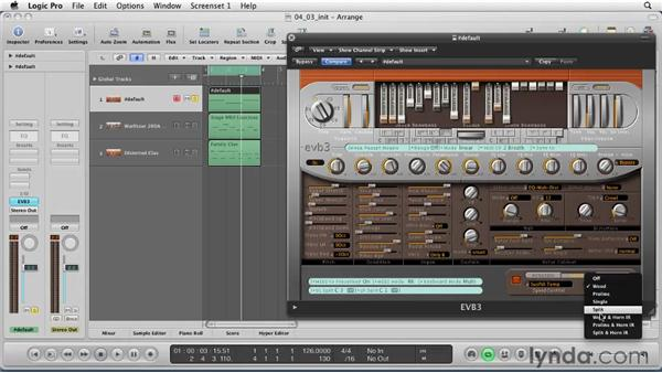 Working with the emulator instruments: Logic Pro 9 Essential Training