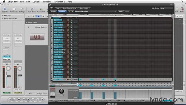Building tracks with Ultrabeat: Logic Pro 9 Essential Training