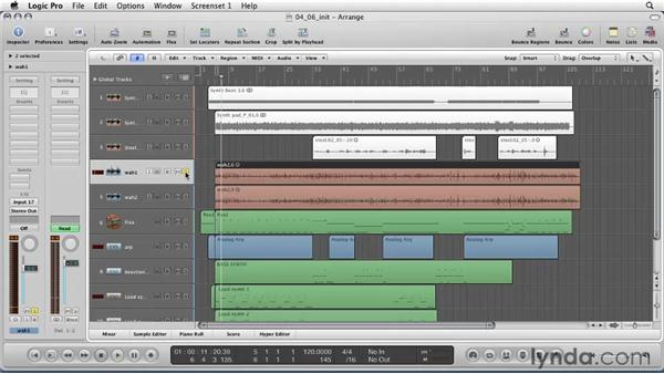 Using channel strips to select a virtual sound: Logic Pro 9 Essential Training