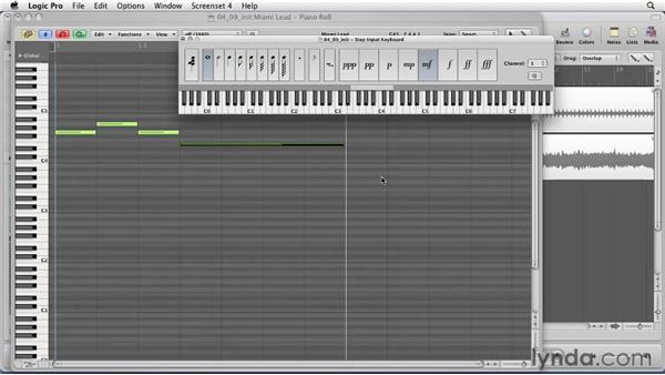 Using Logic's step input: Logic Pro 9 Essential Training
