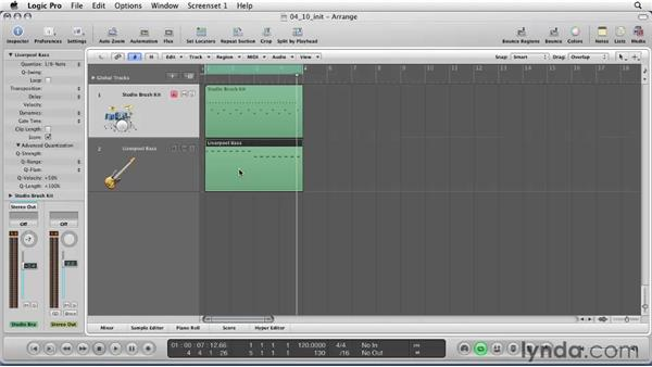 Mastering quantization: Logic Pro 9 Essential Training