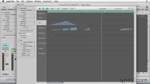 Working with the Hyper Editor: Logic Pro 9 Essential Training